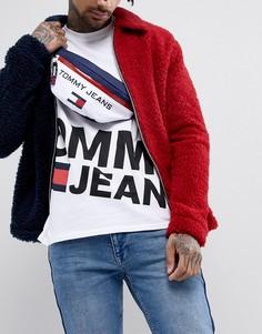 Сумка-кошелек на пояс фирменной расцветки в стиле 90-х Tommy Jeans Sailing Capsule - Белый
