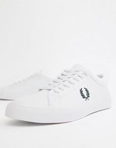Белые кожаные кроссовки Fred Perry - Белый