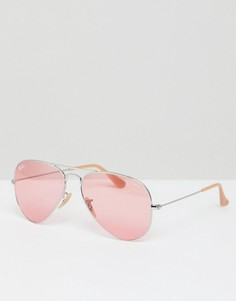 Солнцезащитные очки-авиаторы с розовыми стеклами Ray-Ban - Розовый
