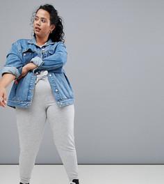 Спортивные штаны узкого кроя Only Play Curvy Plus - Серый
