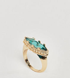 Кольцо с камнем ASOS DESIGN Curve - Золотой