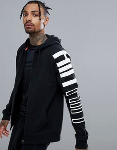 Черная куртка на молнии с длинными рукавами HIIT - Черный