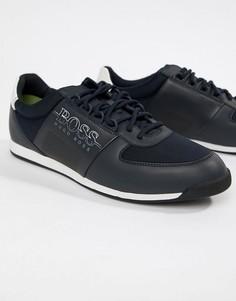 Темно-синие кроссовки BOSS Maze - Темно-синий