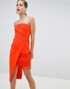 Облегающее платье с кисточками River Island - Красный