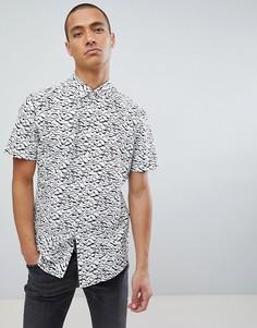 Рубашка с короткими рукавами и принтом Jefferson - Кремовый