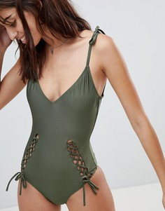 Слитный купальник Glamorous - Зеленый