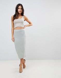 Длинная юбка-карандаш ASOS DESIGN - Зеленый