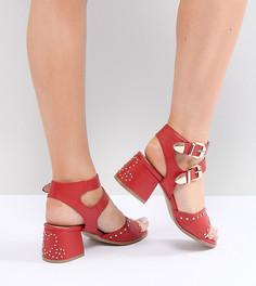 Красные босоножки в стиле вестерн на каблуке для широкой стопы Lost Ink - Красный