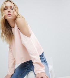 Укороченный свитшот с вырезами на плечах ASOS DESIGN Tall - Розовый