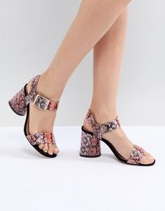 Босоножки на блочном каблуке ASOS DESIGN Humming Bird - Розовый