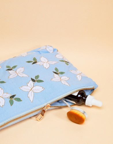 Дорожная сумка-клатч 20 x 30 см из шамбре с жасмином Elizabeth Scarlett - Мульти