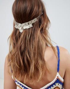 Заколка для волос с цепочками и стразами ASOS DESIGN - Золотой