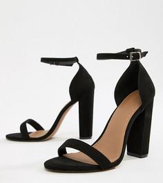 Босоножки для широкой стопы на каблуке ASOS DESIGN - Черный