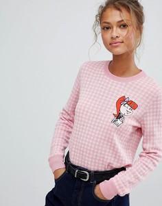 Джемпер с добавлением шерсти альпака Love Moschino - Розовый