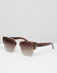 Черепаховые солнцезащитные очки кошачий глаз Glamorous - Мульти