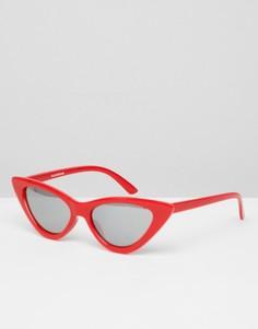 Красные солнцезащитные очки кошачий глаз Glamorous - Красный
