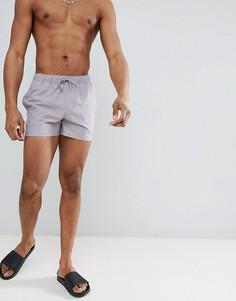 Короткие серые шорты для плавания ASOS DESIGN - Серый