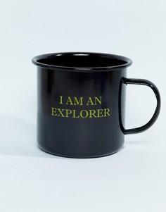 Эмалированная кружка с надписью I Am An Explorer Kado - Мульти