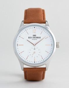Часы с кожаным ремешком Ben Sherman WB015T - Рыжий