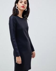Платье со складками Boss - Темно-синий