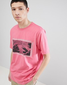 Футболка Weekday Frank - Розовый