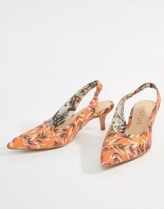 Оранжевые босоножки на каблуке с принтом Gestuz - Оранжевый