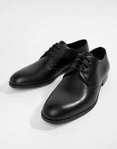 Черные кожаные туфли дерби HUGO Boheme - Черный
