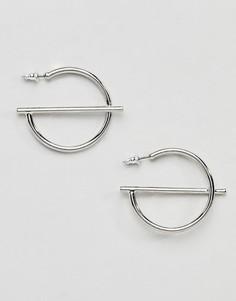 Абстрактные серьги-кольца Missguided - Серебряный
