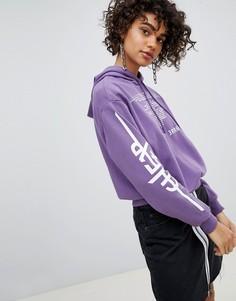 Худи с надписью Cheap Monday - Фиолетовый