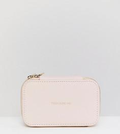 Бледно-розовая шкатулка для украшений с надписью Treasure Me Estella Bartlett - Розовый