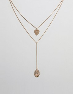 Многоярусное ожерелье Missguided - Золотой
