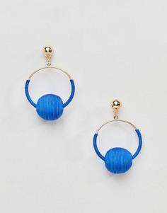 Серьги-подвески с кольцом Missguided - Синий