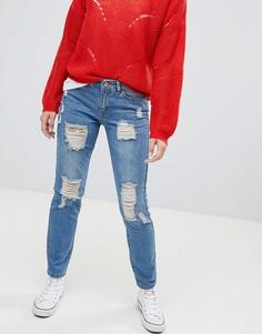 Рваные джинсы бойфренда JDY - Синий