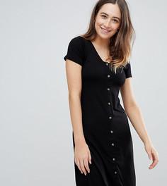 Платье на пуговицах New Look Maternity - Черный