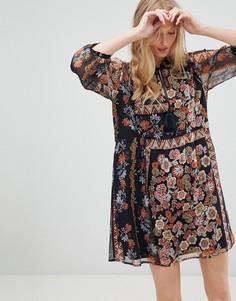 Свободное платье с цветочным принтом d.Ra - Мульти