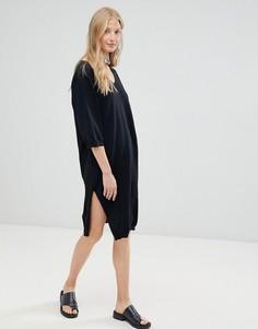Платье-свитер с добавлением шерсти d.Ra - Черный