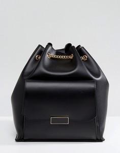Рюкзак с цепочками и карманом спереди Park Lane - Черный