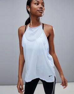Синий топ Nike Training Flex - Синий