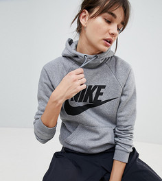 Худи серого цвета с логотипом Nike Rally - Серый