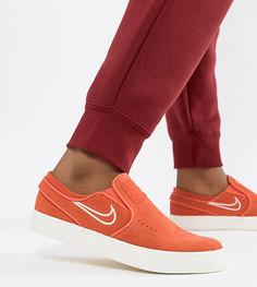 Оранжевые кроссовки-слипоны Nike Sb - Оранжевый