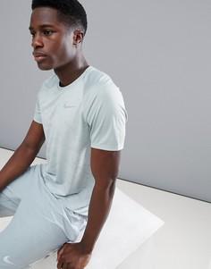 Серая футболка с камуфляжным принтом Nike Running Miler Breathe 904661-019 - Серый
