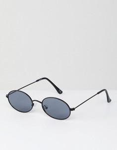 Овальные солнцезащитные очки в стиле 90-х ASOS DESIGN - Черный