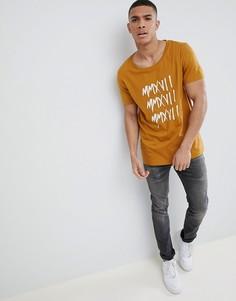 Свободная длинная футболка с принтом цифр ASOS DESIGN - Рыжий
