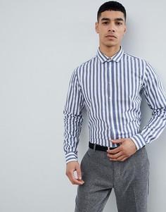 Рубашка в полоску с длинными рукавами Jefferson Big - Синий