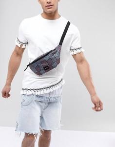 Фестивальная сумка-кошелек на пояс с ацтекским принтом ASOS DESIGN - Мульти