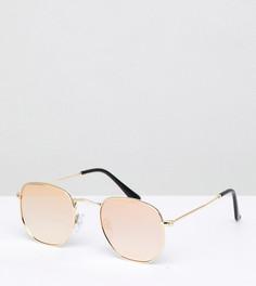 Шестигранные солнцезащитные очки с зеркальными стеклами South Beach - Розовый
