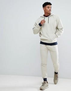 Бежевый спортивный костюм с синими манжетами ASOS DESIGN - Бежевый