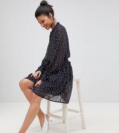 Короткое приталенное платье с принтом Y.A.S Tall - Мульти