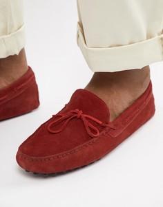 Красные замшевые мокасины с завязкой спереди ASOS DESIGN - Красный
