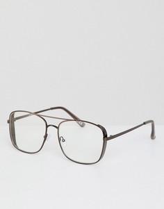 Очки с прозрачными стеклами ASOS DESIGN - Коричневый